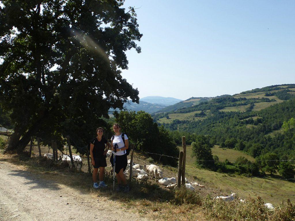 Rimi, Maria Helena sind, noch selten, Pilger aus Italien.