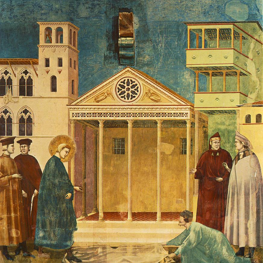 Giottos Darstellung des Minerva Tempels
