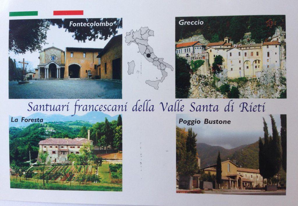 Postkarte aus dem Klosterladen in Greccio.
