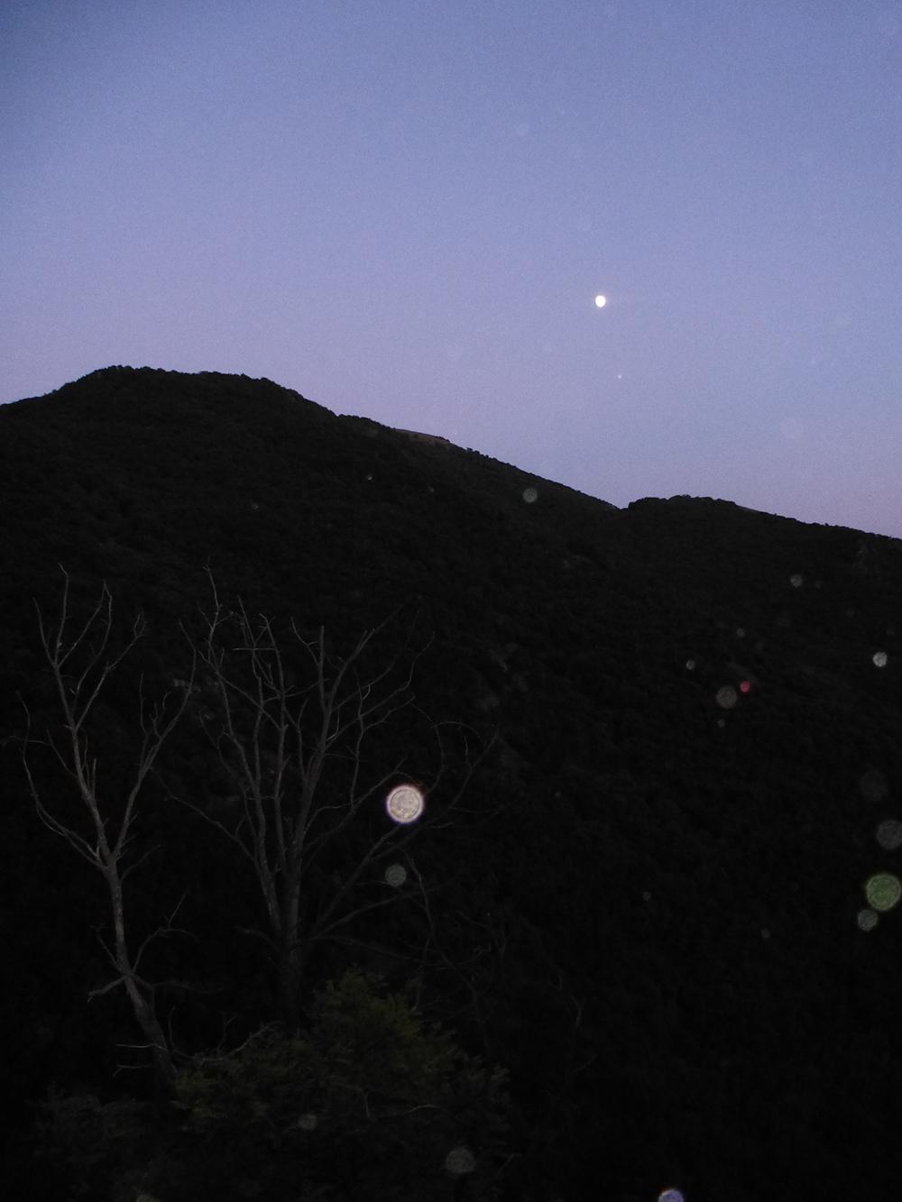 Der Mond über den Wäldern Poggio Bustone