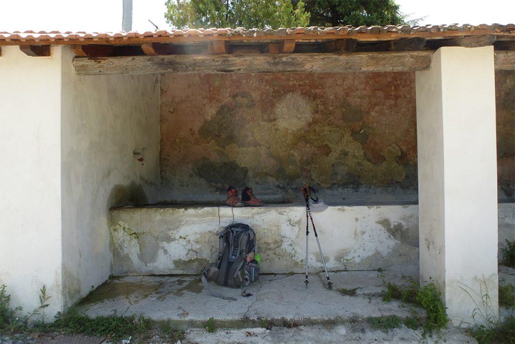 12:00 Uhr: Rast an der alten Waschanlage in Rapicciano
