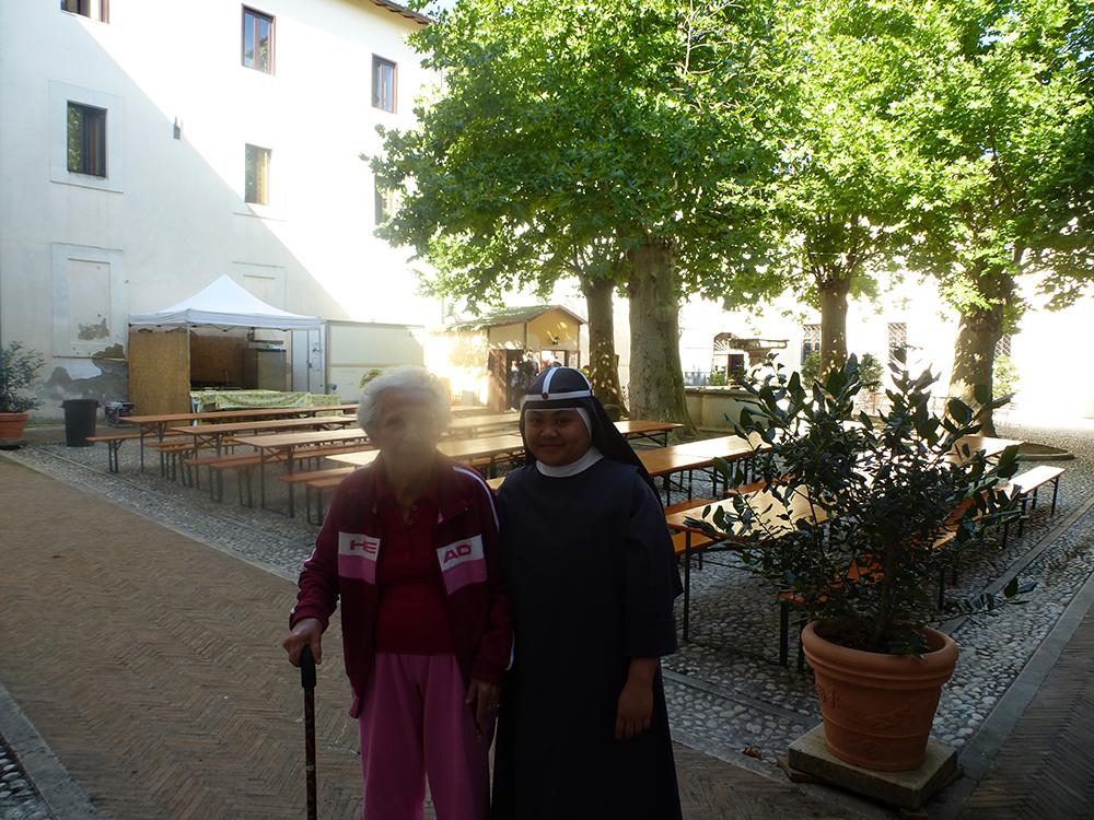 Abschied von Nel und den Schwestern der Brigida.